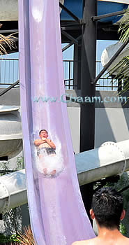 Water slide with extremely high speed