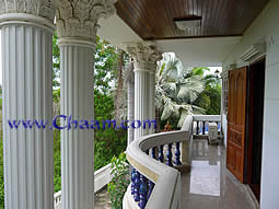 The front Balcony of the Luxury Villa for sale