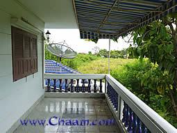 Balcony with view on the Gulf of Thailand