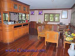 Elegant wooden bar