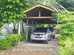 Front carport for 2 cars in Villa Cha-Am