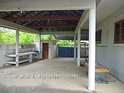 Back carport with BBQ area