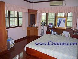 Sleeping Room in Villa with many windows