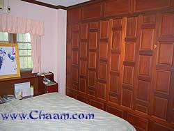Wooden wall in Villa made out of Makamon