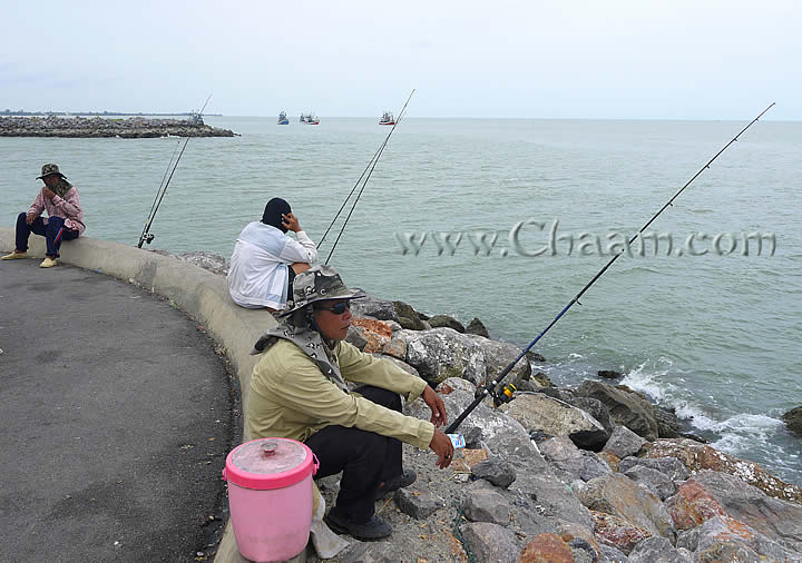 Fishing man in Cha-Am