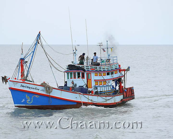 Traditional Thai fishing boat