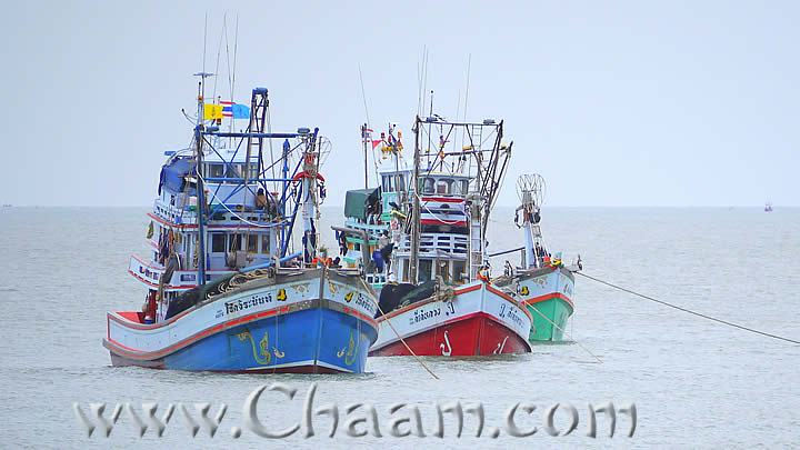 Fishiong Boats in Cha-Am