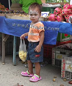 White powdered boy Cha-Am Thailand
