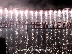 Celebrating New Year in Cha-Am Thailand