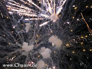 Fireworks in Cha-Am Thailand