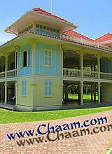 The teak wood palace of King Rama VI