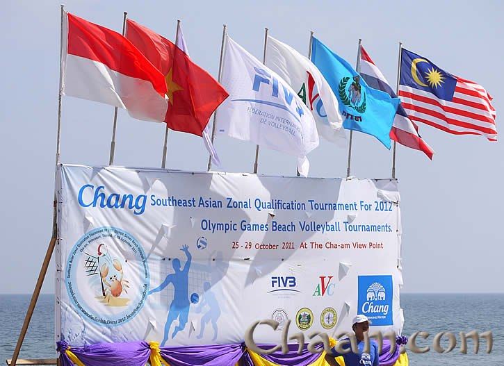 Beach volleyball Qualification tournament south east asia in Cha-Am for Olympic games 2012 in London