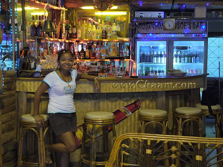 Aom in Robinson Crusoe´s Bar in Cha-Am Thailand