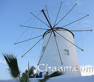 Windmill in Cha-Am Santorini Park