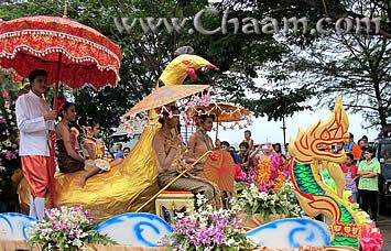 Colourful Carnival Float in Cha-Am Thailand