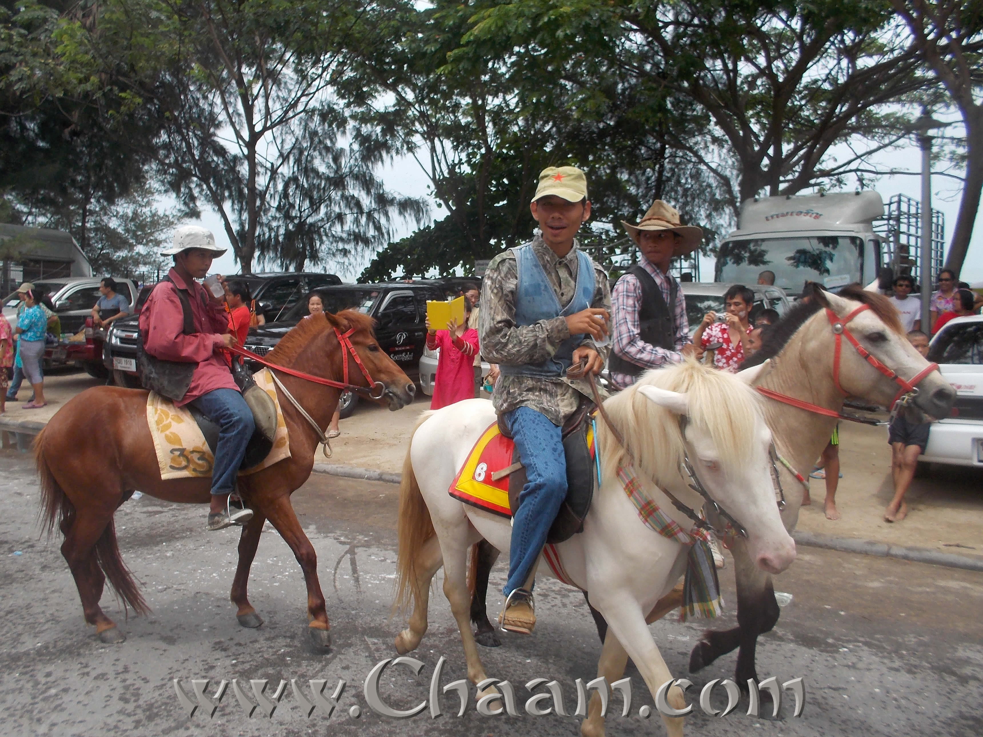 Cha-Am beach horses at Songkran