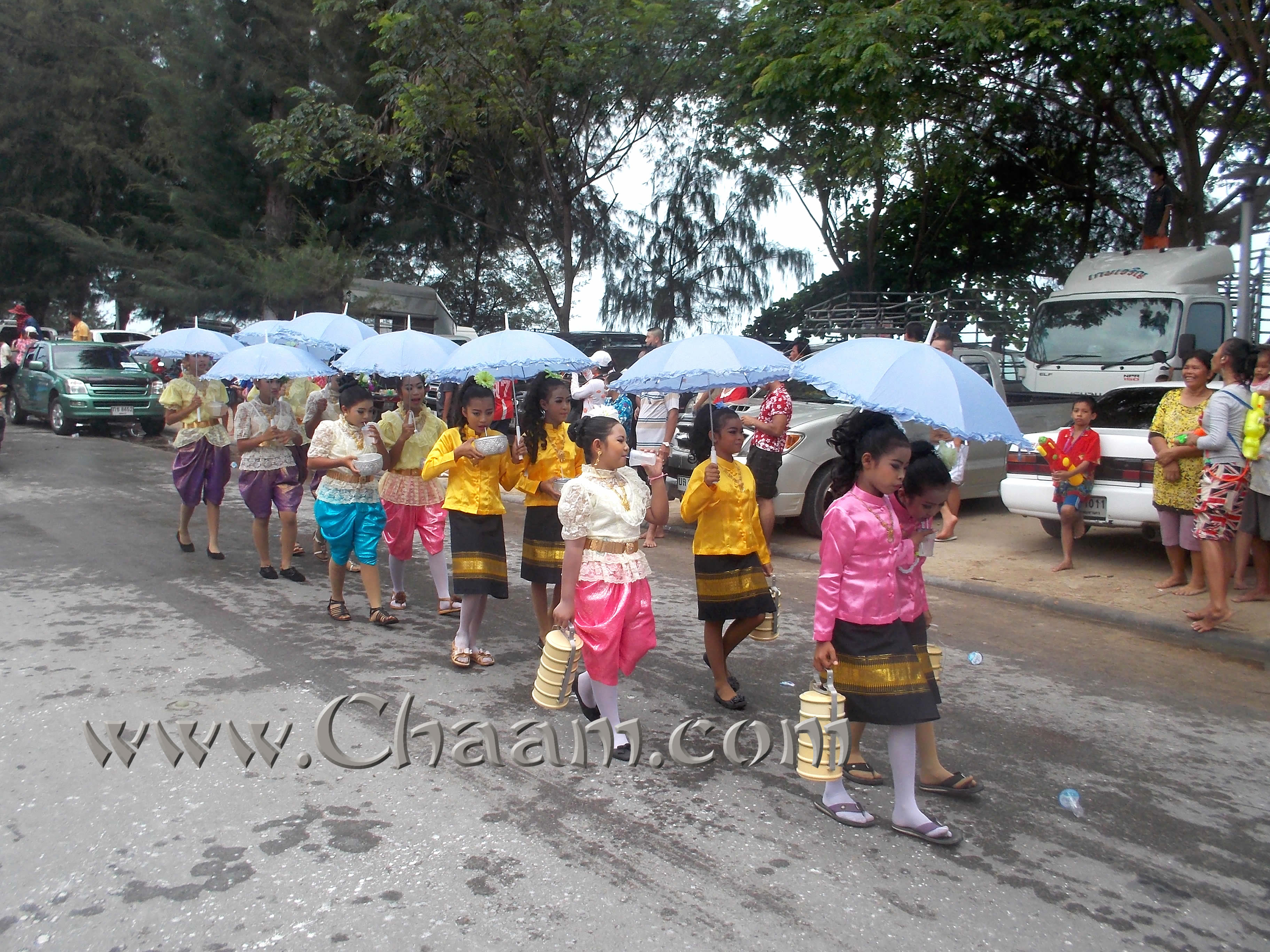 Thai girls at Songkran Thailand