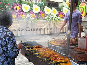 Songkran and chicken in Cha-Am