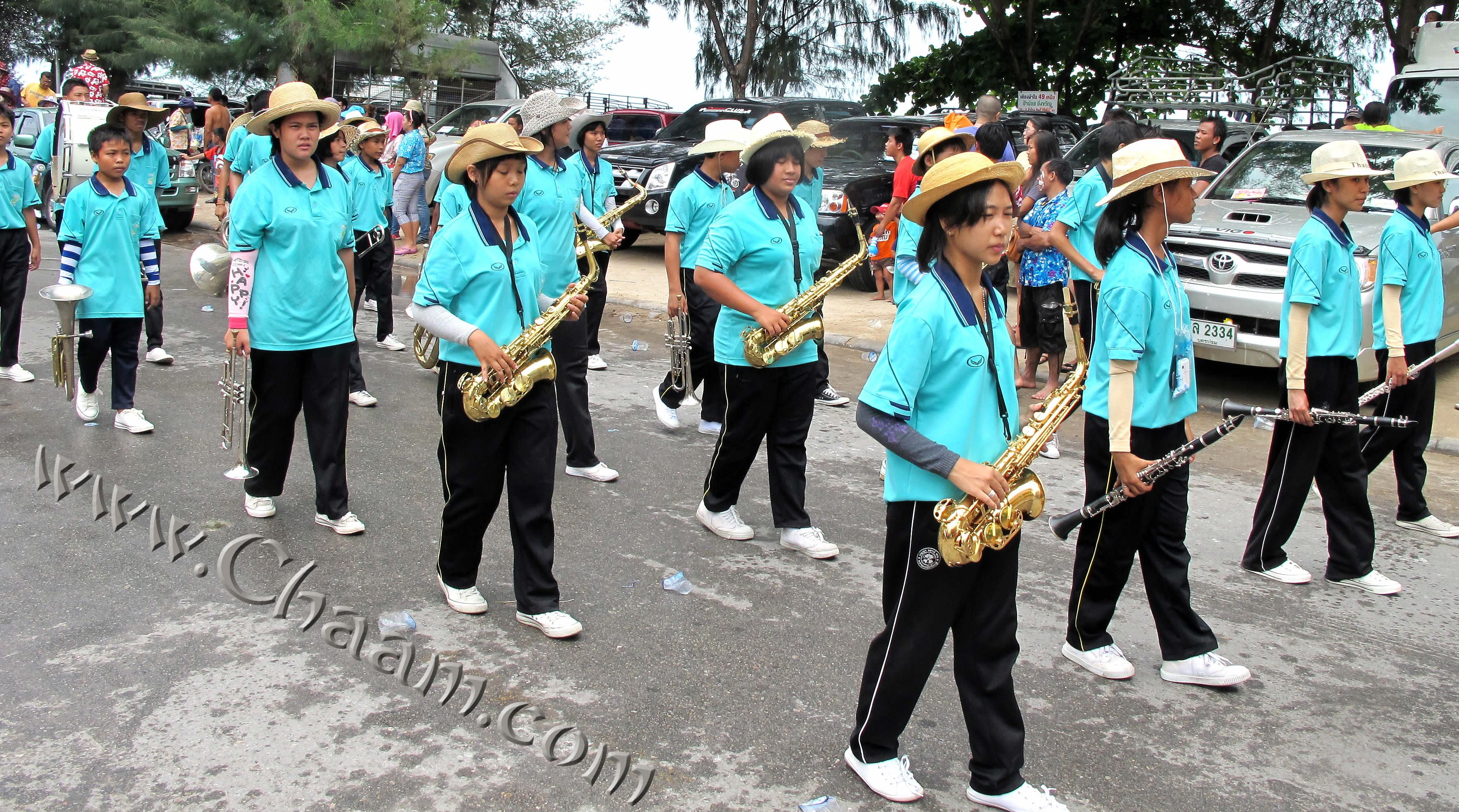 Jazz musicans at Songkran in Cha-Am