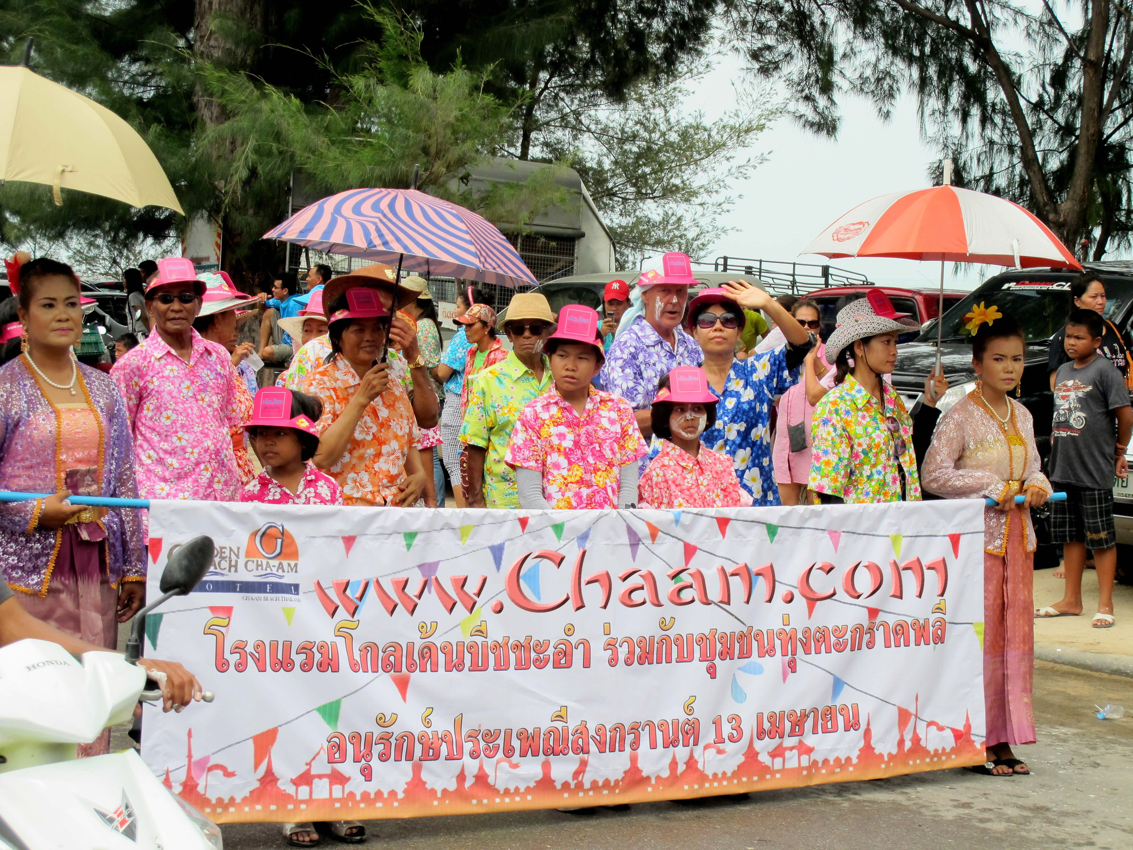 Songkran with Golden Beach Hotel in Cha-Am Thailand