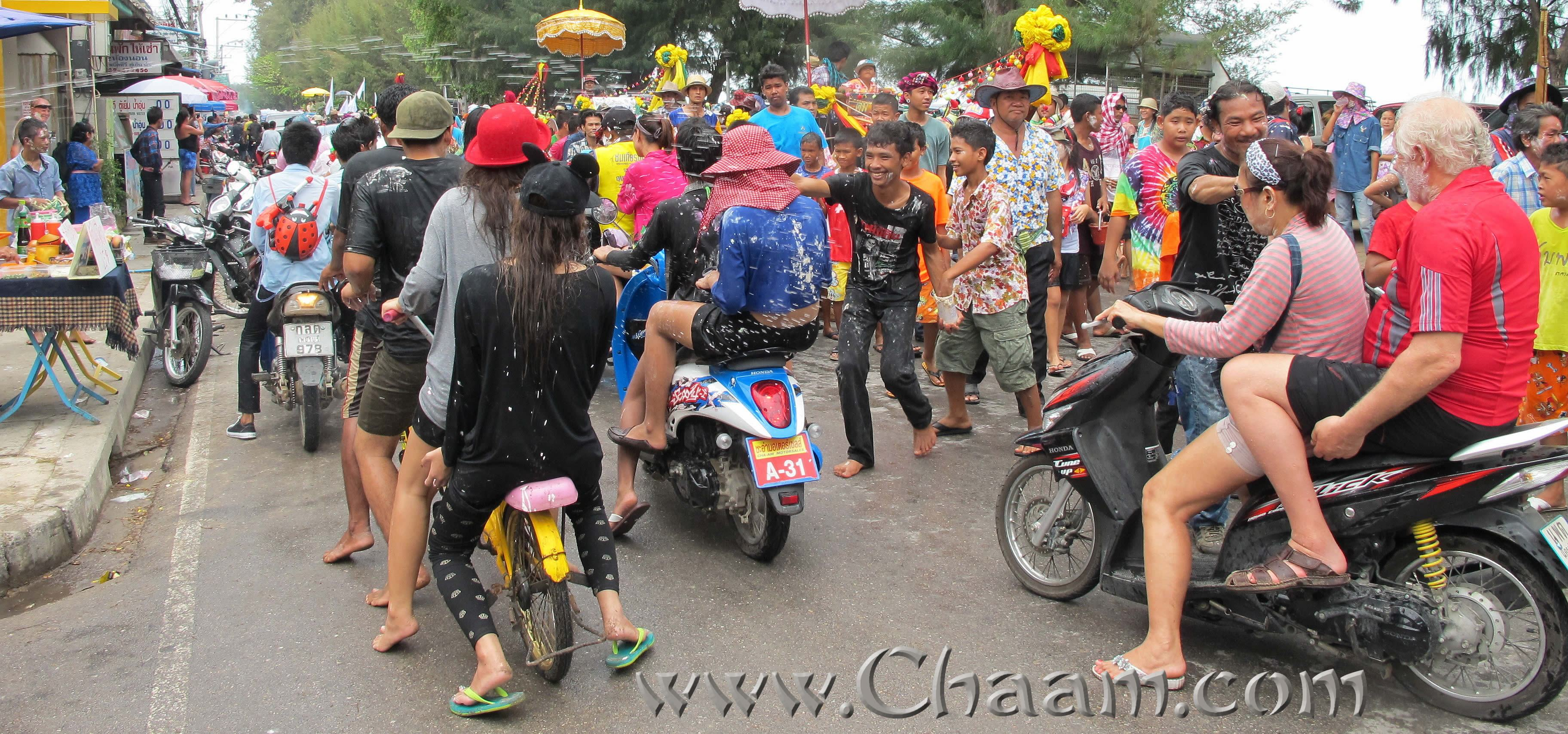 Steet Party in Cha-Am at Songkran