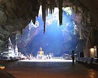 The drip stone cave and temple Tham Khao Luang in Phetchaburi