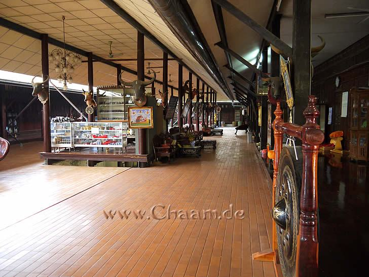 Museum in temple Wat Tanot Luang in Thailand