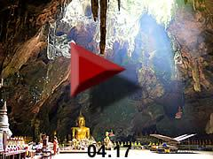 Video dripstone cave Tham Khao Luang